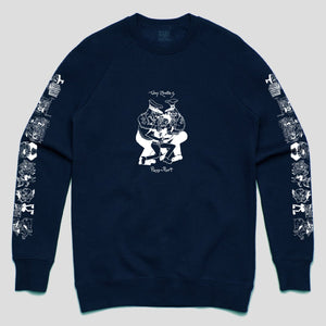 "PASS~PORT TOBY ZOATES ""COPPERS"" SWEATER CLASSIC NAVY"