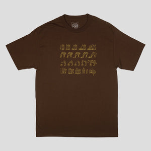 "PASS~PORT ""W-C-W-B-F?"" TEE DARK CHOCOLATE"
