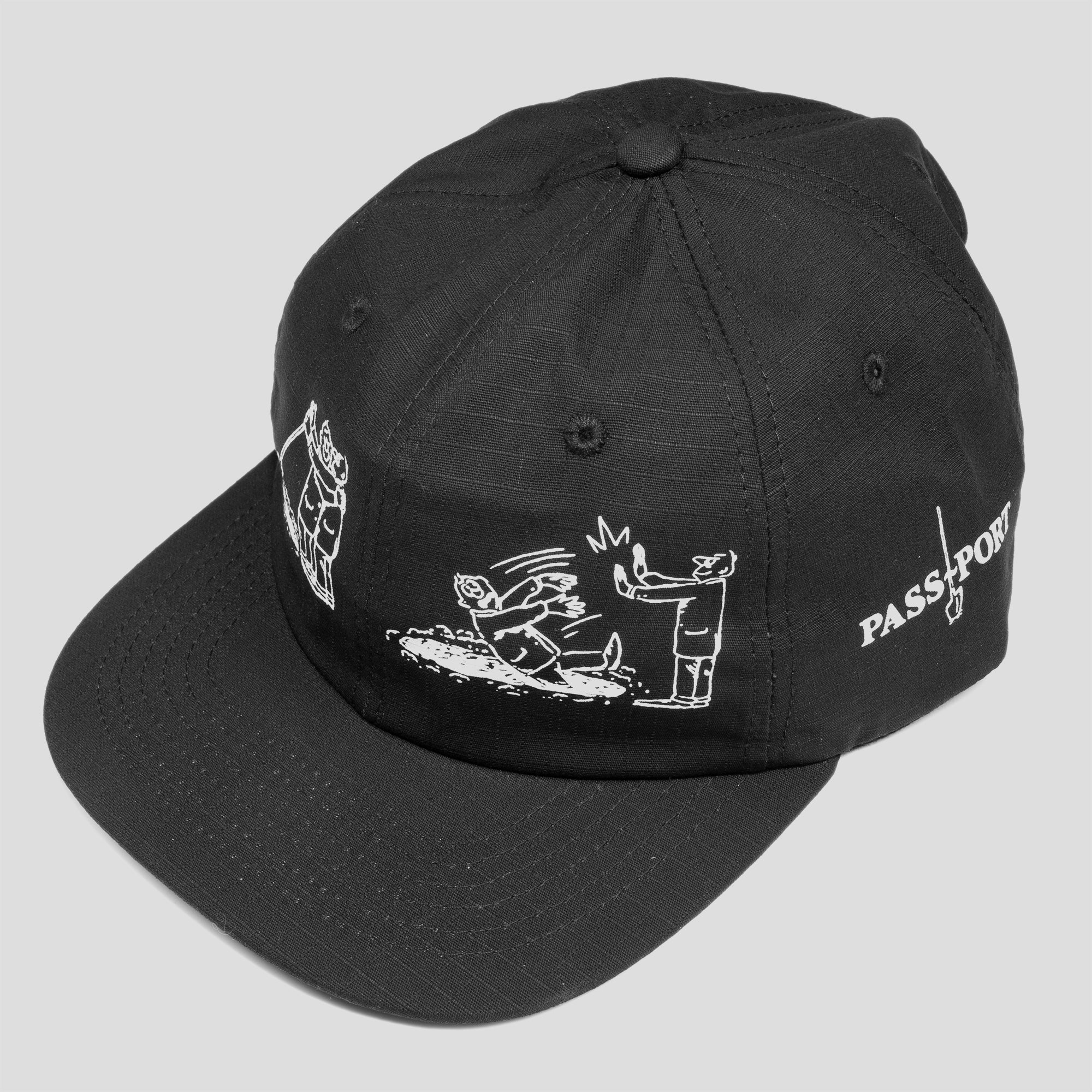 "PASS~PORT ""W.C.W.B.F?"" CAP BLACK"