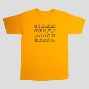"PASS~PORT ""W-C-W-B-F?"" TEE GOLD"