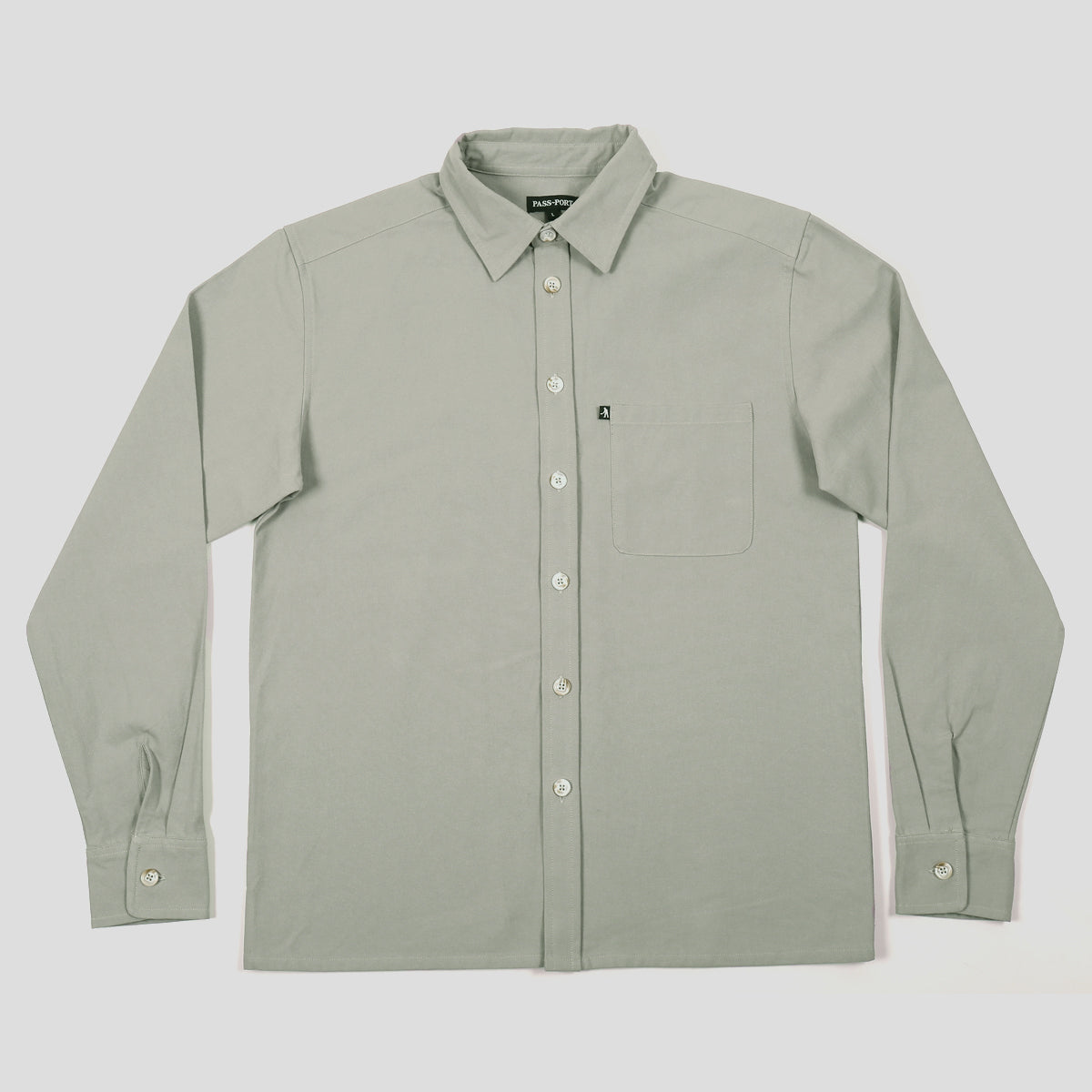 "PASS~PORT ""WORKERS"" SHIRT L/S GREY"