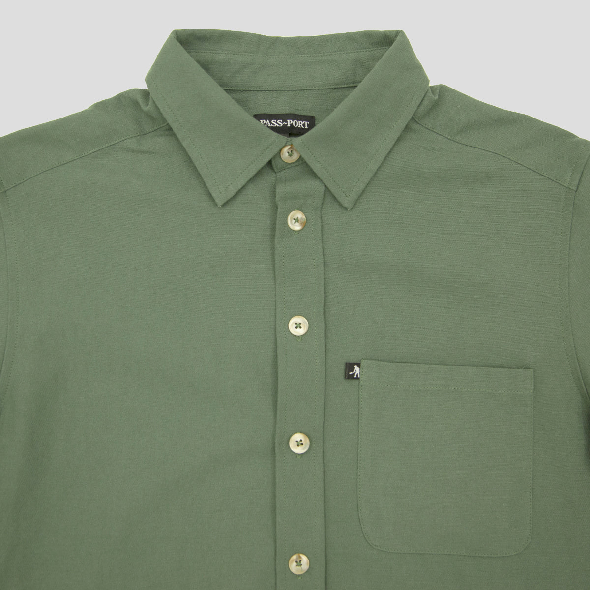 "PASS~PORT ""WORKERS"" SHIRT S/S MOSS"
