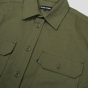"PASS~PORT ""WORKERS"" L/S SHIRT OLIVE"