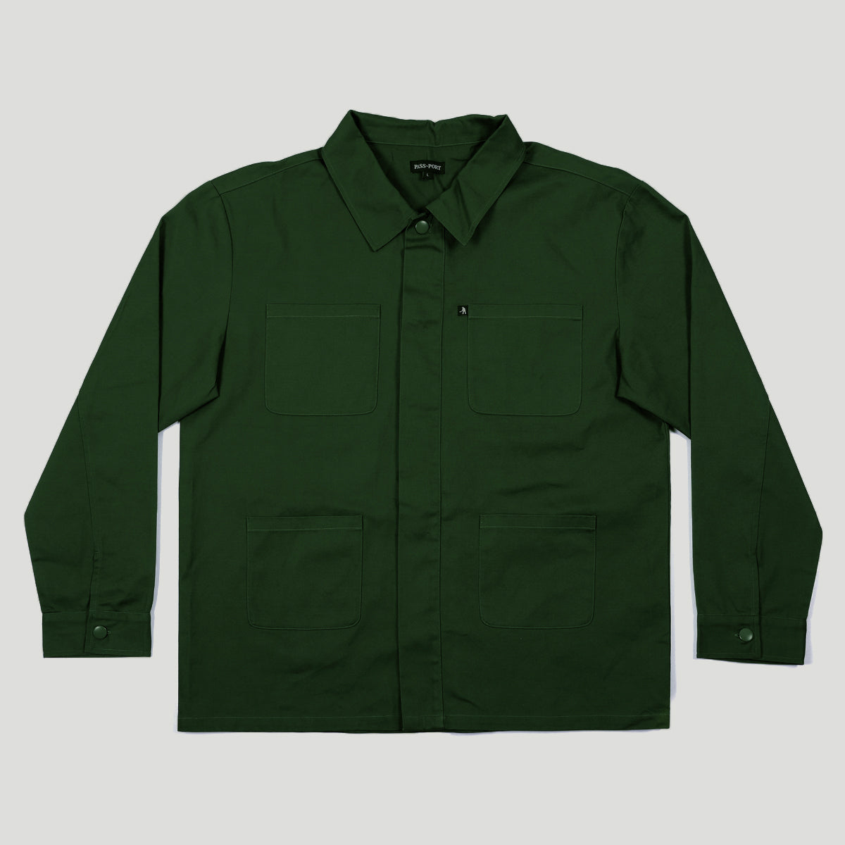 "PASS~PORT ""WORKERS"" PAINTERS JACKET MIDNIGHT GREEN"