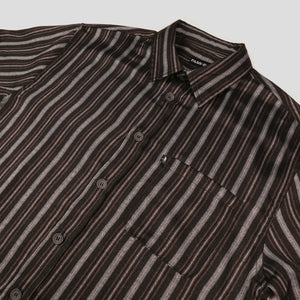 "PASS~PORT ""WORKERS STRIPES"" S/S SHIRT BLACK"