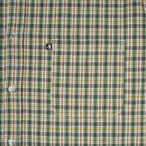 "PASS~PORT ""WOVEN CHECK"" S/S SHIRT GREEN"