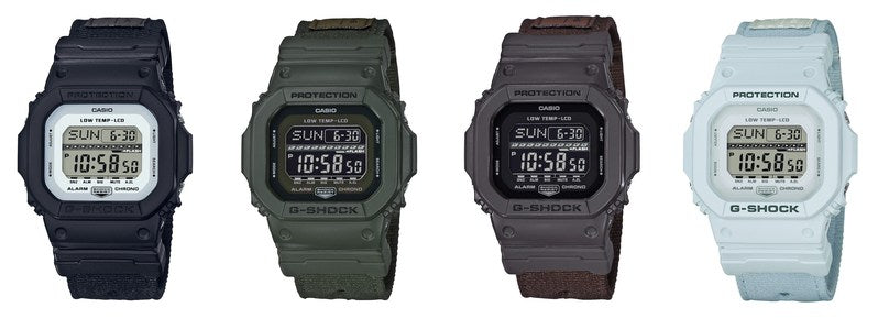 G-SHOCK ANNOUNCES EXPANSION OF POPULAR G-LIDE SERIES WITH INTRODUCTION OF CLOTH BAND