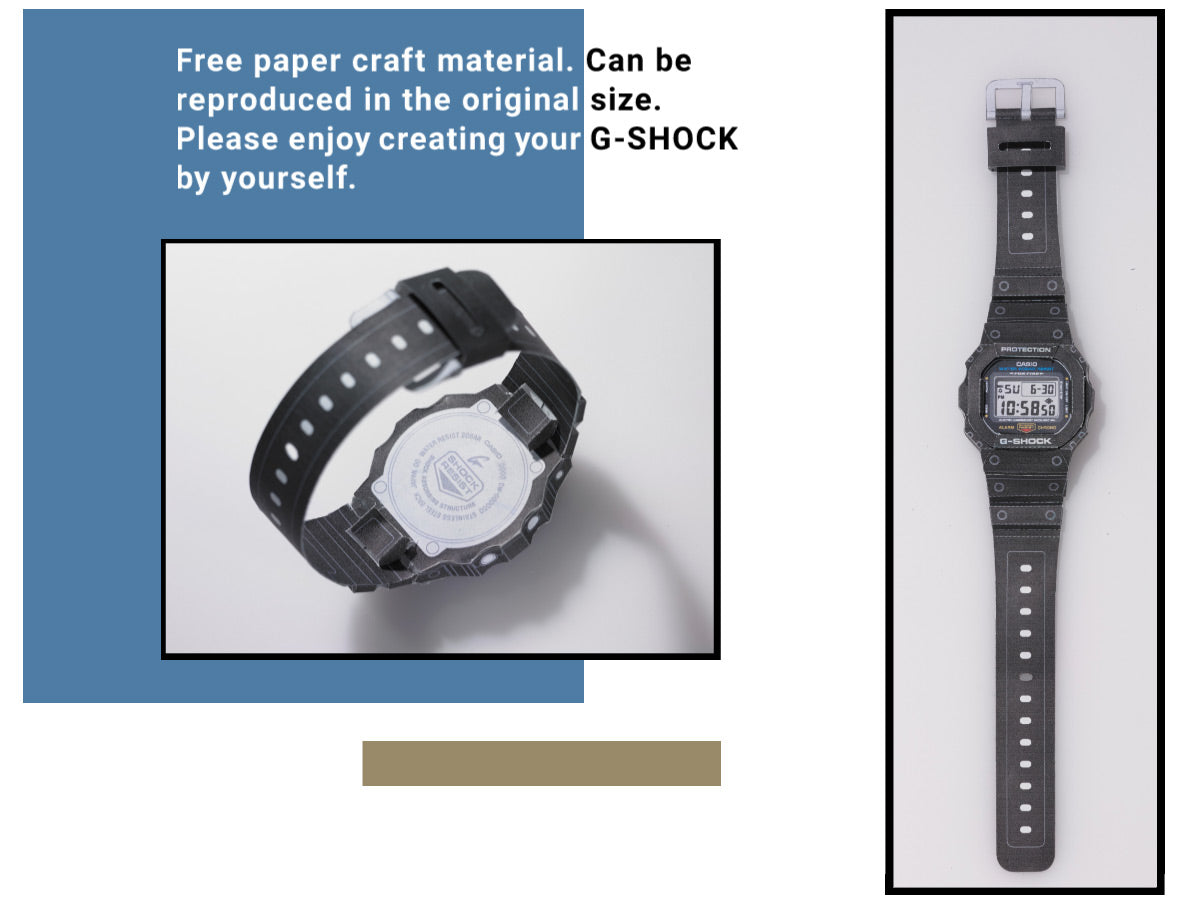Make your own G-Shock Papercraft