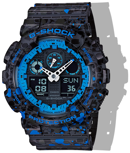 GA100ST-2A LTD GSHOCK X STASH COLLAB GRAFFITI