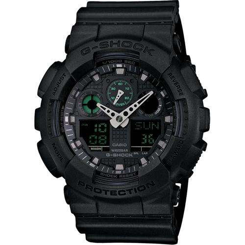 gshock GA100MB-1A mens anadigi watch