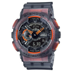 gshock GA110LS-1A transparent mens fluorescent watch
