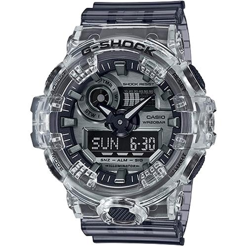 gshock GA700SK-1A SkeletonSeries mens transparent watch