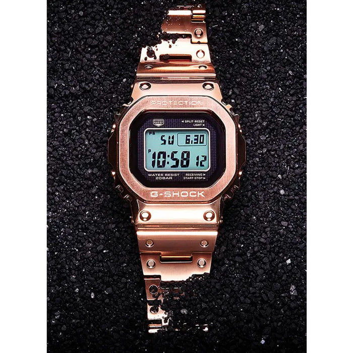 G-Shock GMWB5000GD-4 full metal mens rose gold watch