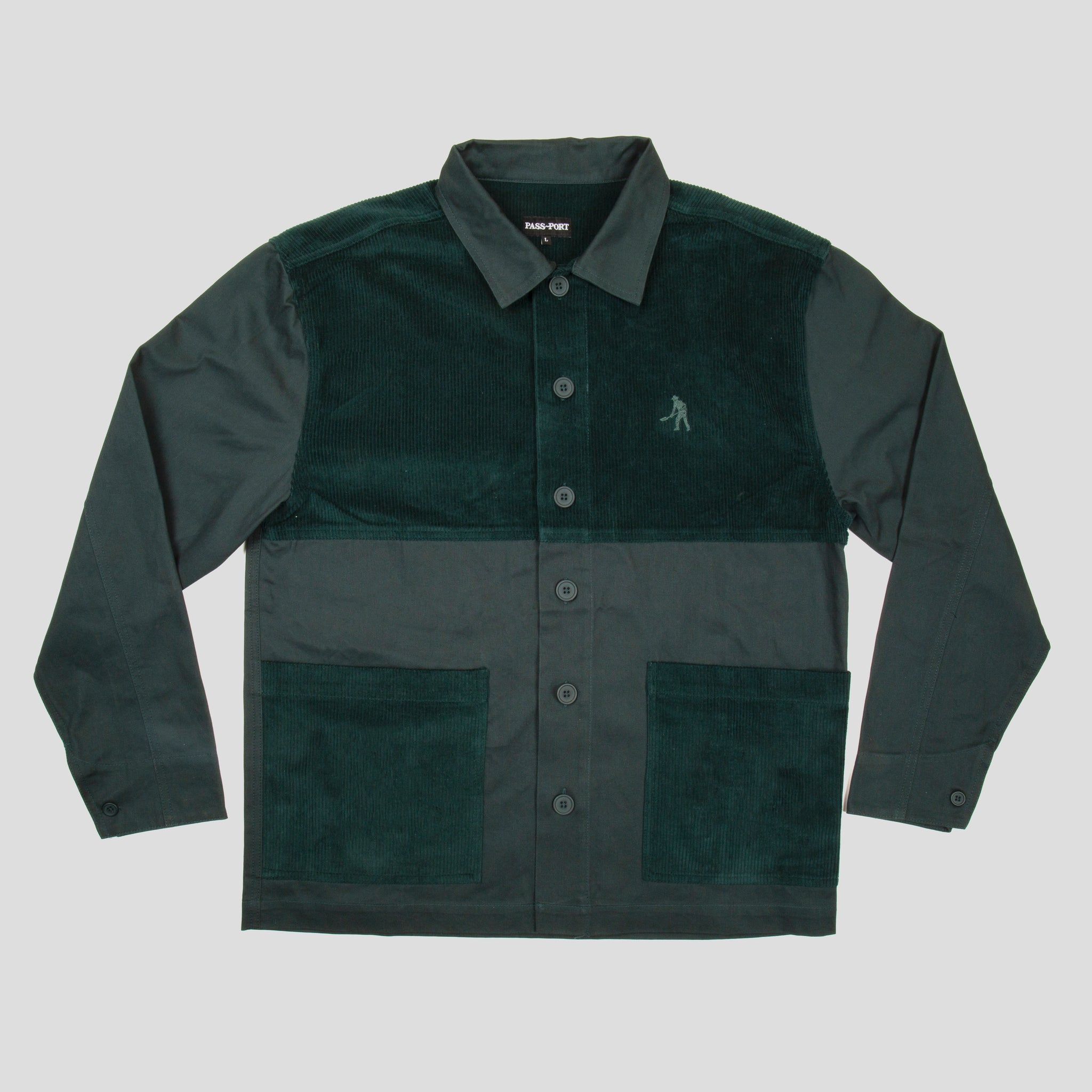Cord Patch Jacket (Moss)
