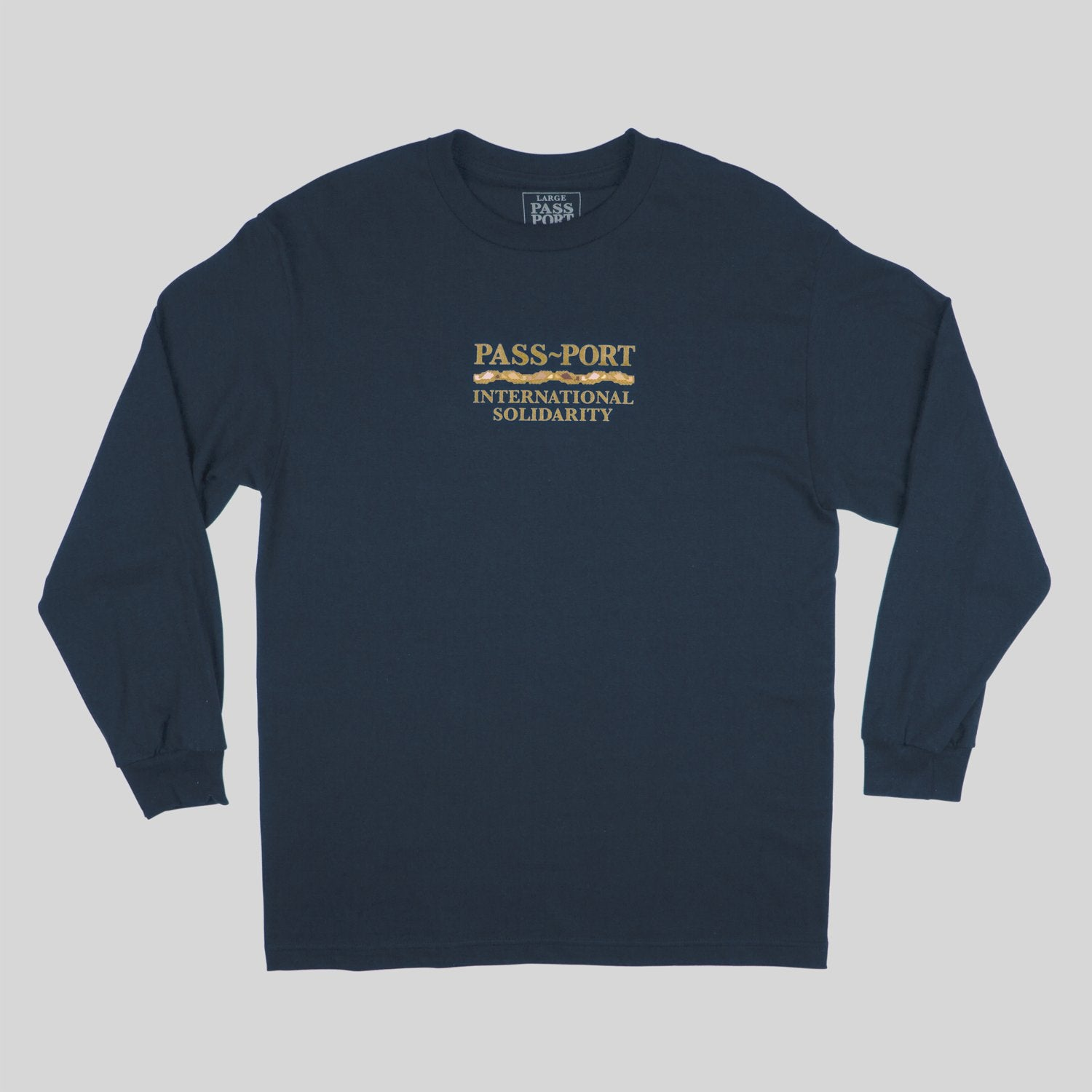 "PASS~PORT ""INTER SOLID"" L/S TEE NAVY"