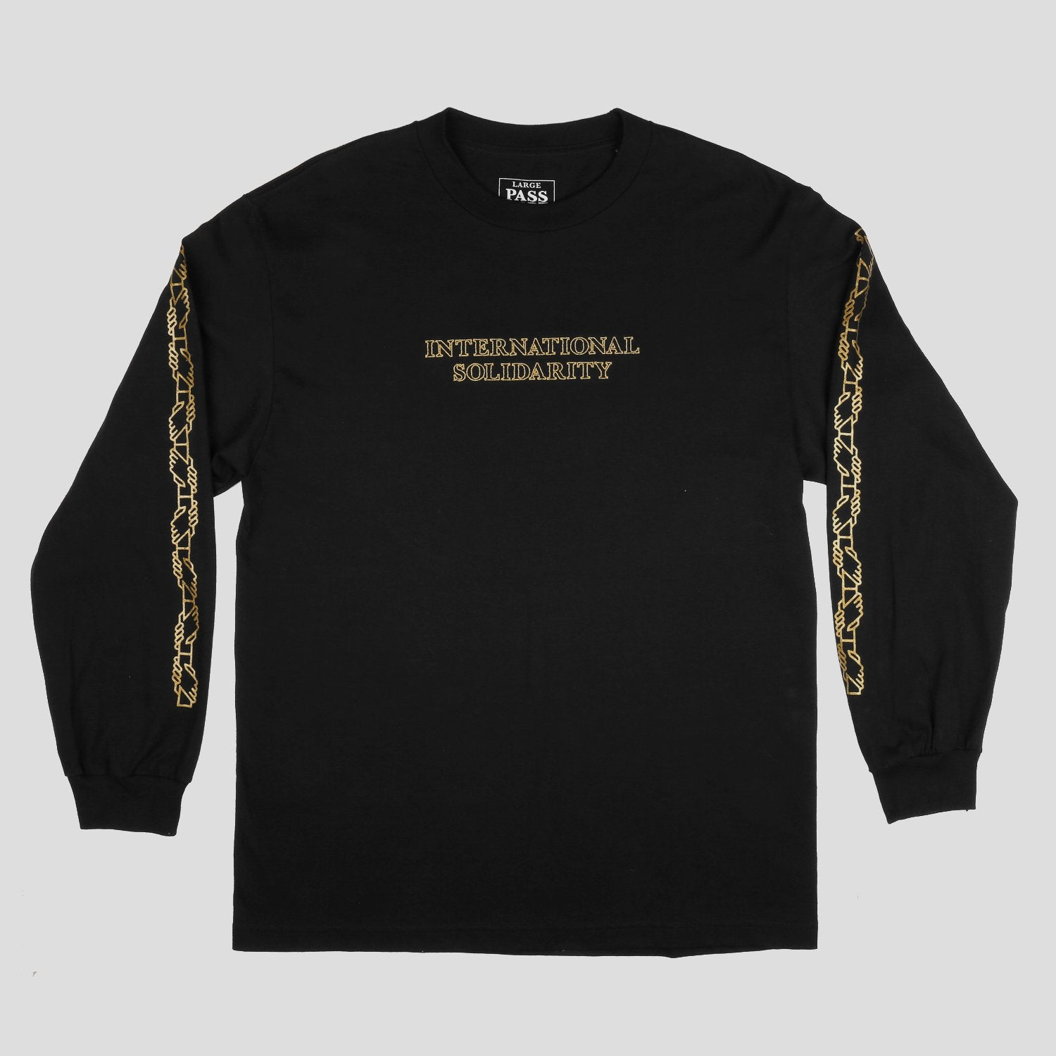 "PASS~PORT ""INTER SOLID"" L/S TEE BLACK"