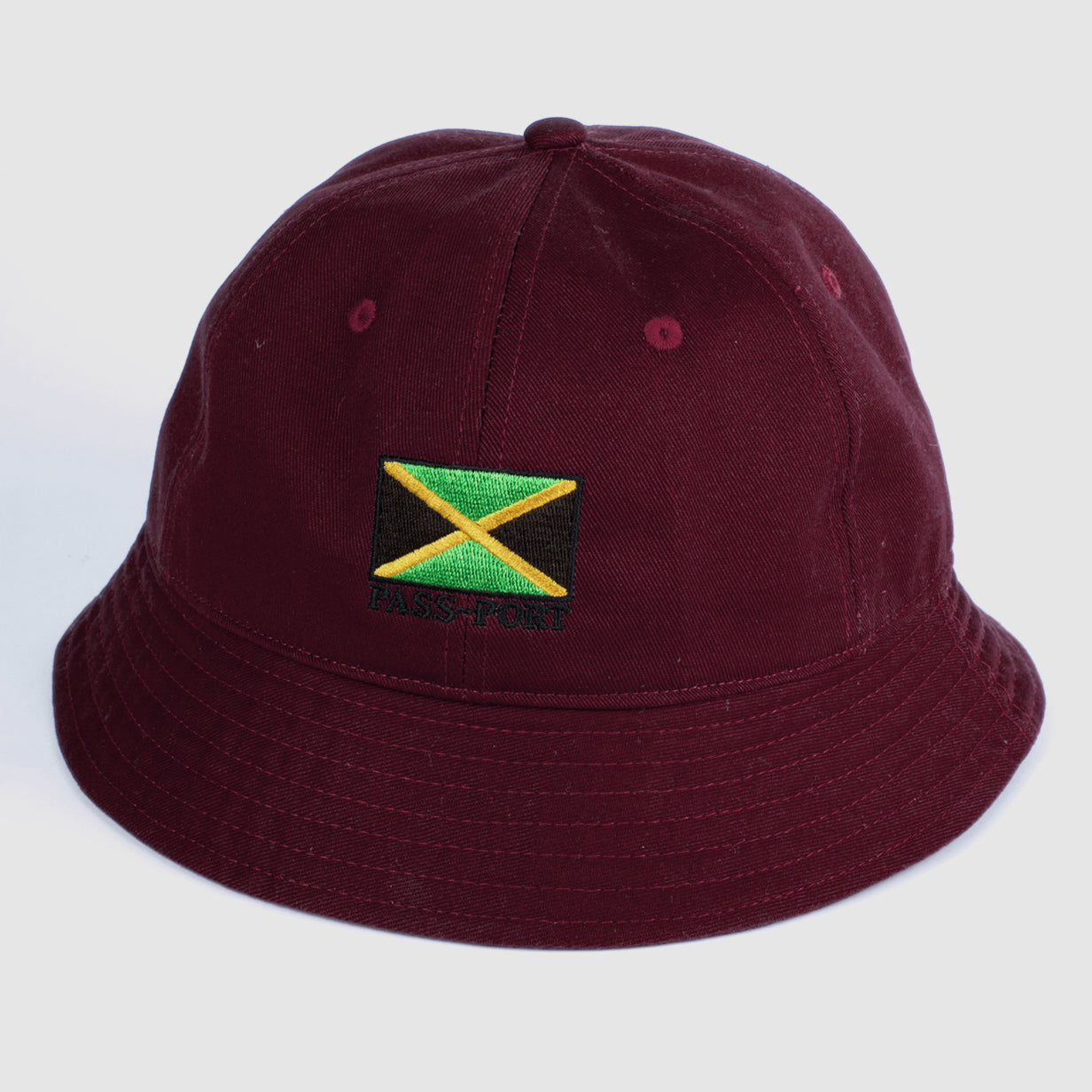 "PASS~PORT ""JAMAICA"" BUCKET CAP MRN"
