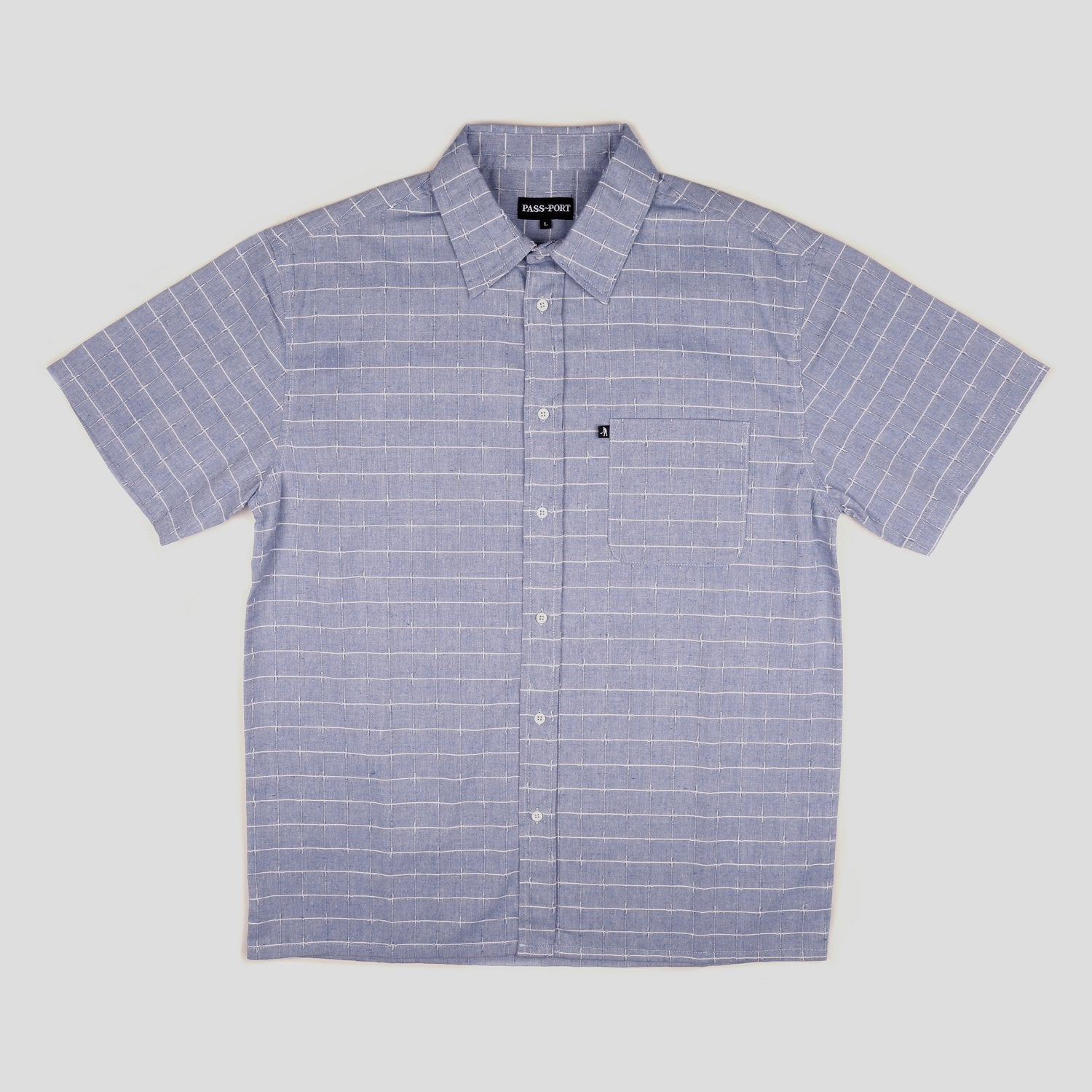 Line Wire Shirt - Shortsleeve (Blue)