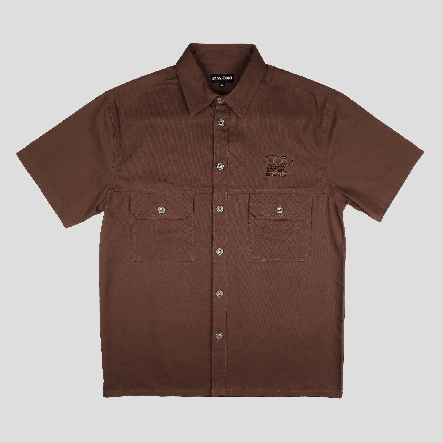"PASS~PORT ""STAY CONNECTED"" SPARKY S/S SHIRT CHOCOLATE"