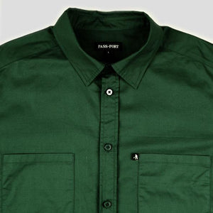 "PASS~PORT ""WORKERS"" SHIRT L/S FOREST GREEN"
