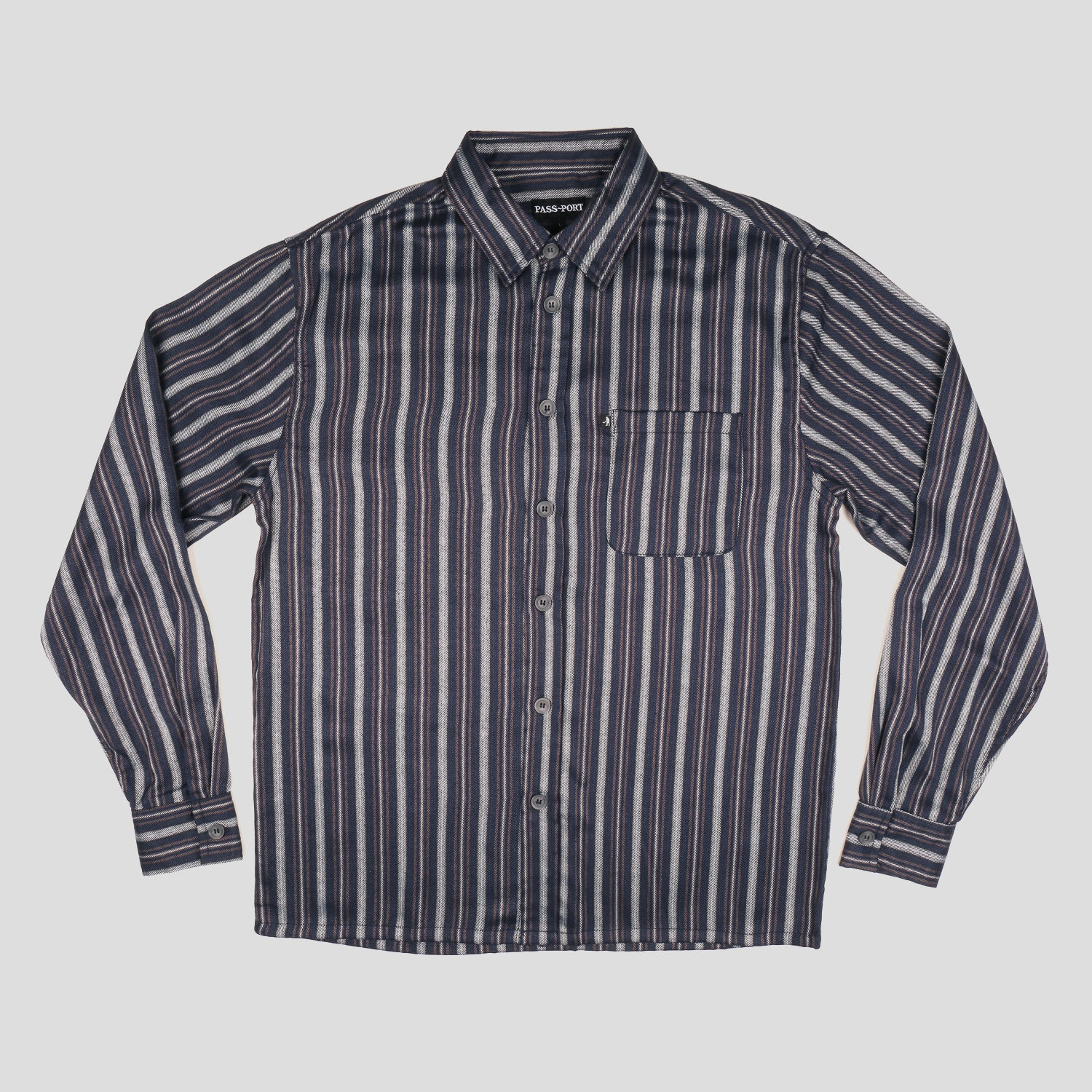 Workers Stripe Shirts - Longsleeve (Navy)