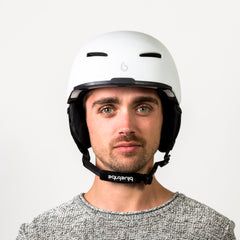 Vooraanzicht van de Bluetribe Scratch skihelm Light Grey