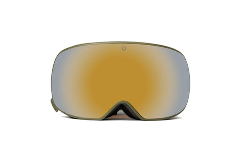 Ultra single lens | Green Cat. 3 | Skibril - Snowboard bril