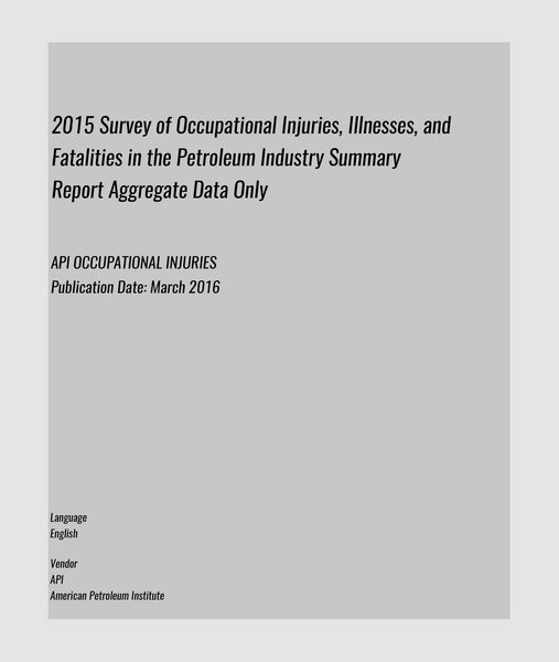 API OCCUPATIONAL INJURIES