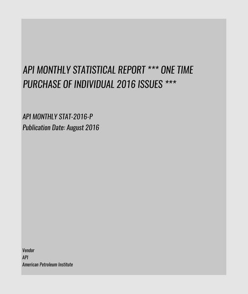 API MONTHLY STAT-2016-P