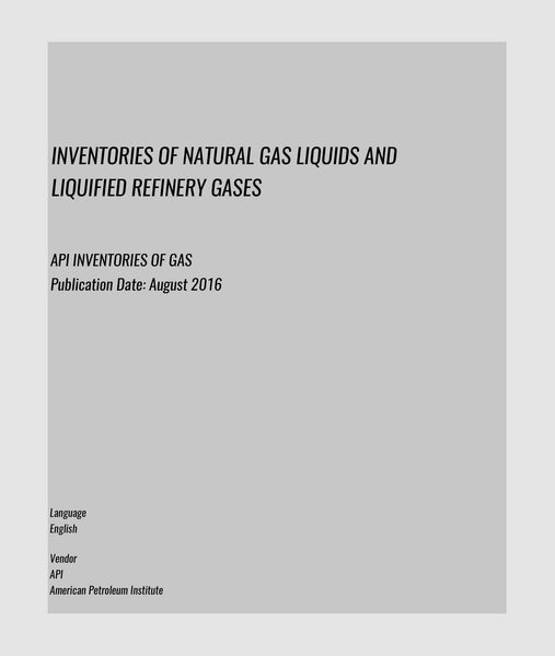 API INVENTORIES OF GAS