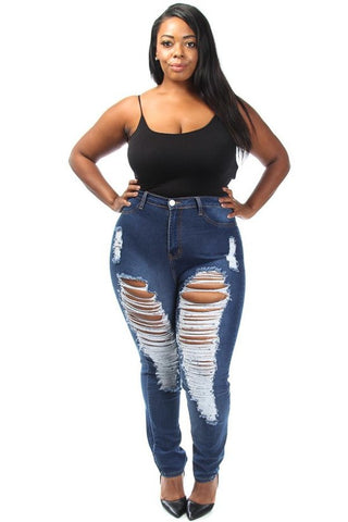 Khaia | Distressed Denim