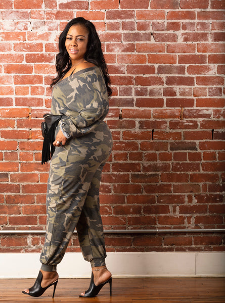 Jane | Camo Jumpsuit