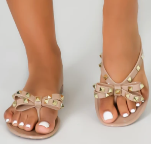 So Studded | Gold Studded Sandals