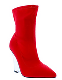 High Steppin | Lucite Lycra Bootie - Bougie Chic Boutique