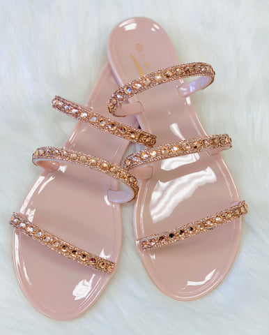 Savvy | Rhinestone Sandals - Bougie Chic Boutique