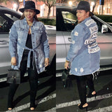 Fashion Tour II | Vintage Denim Patchwork Jacket Dress - Bougie Chic Boutique