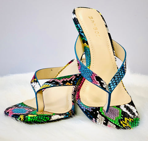 Trini | Multi Colored Kitten Heel - Bougie Chic Boutique