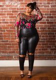 Roxanne | Latex Open Knee Pants - Bougie Chic Boutique