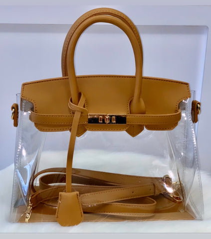 The Baby | Clear Faux Birkin Bag - Bougie Chic Boutique