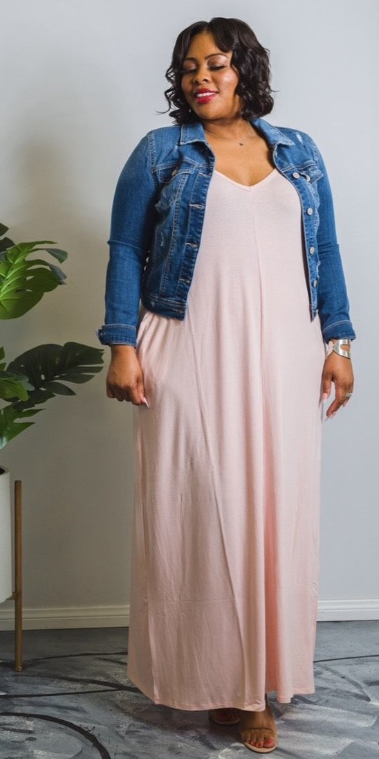 Fall Maxin | Maxi Dress with Pockets