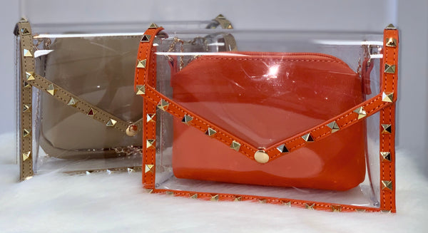 Vivian | Clear Studded Bag - Bougie Chic Boutique