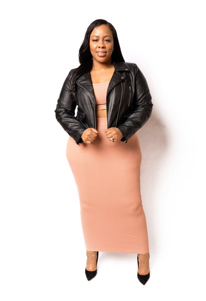Mercedes | Midi Skirt Crop Set
