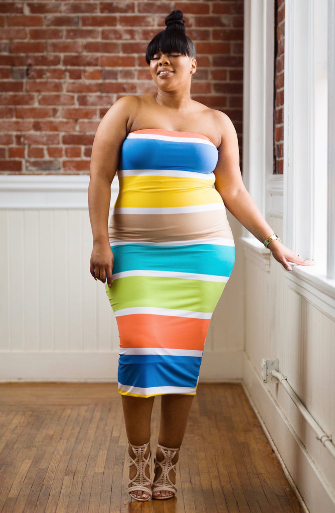Tika | Stripe Tube Dress