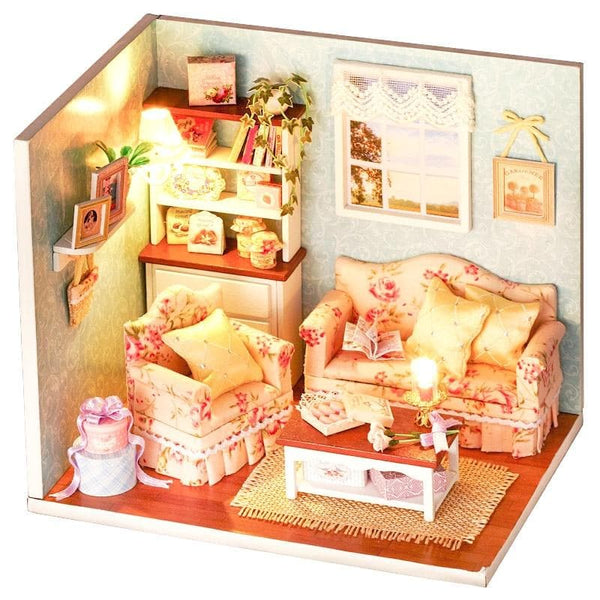3D Wooden Miniaturas Dollhouse
