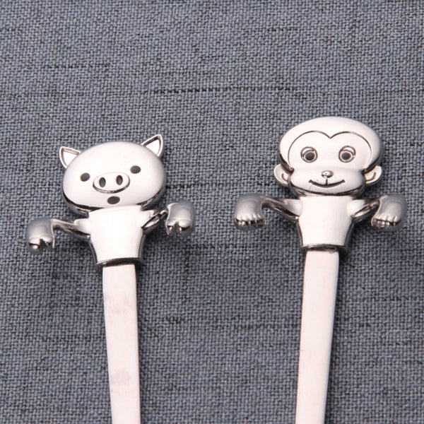 Set of 4 Cute Animal Spoons Set