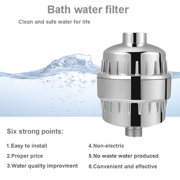 Universal Shower Filter by Aquashine™ with 2 Replaceable Multi-Stage Filter Cartridge
