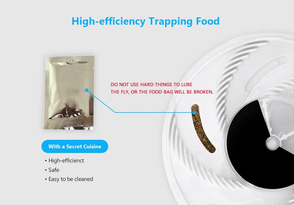 Electronic Housefly Trap With Trapping Food