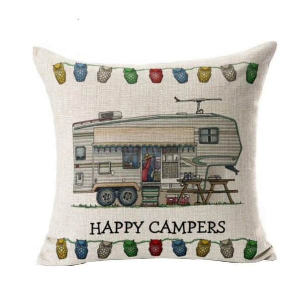 Hapy Campers Pillow Cases