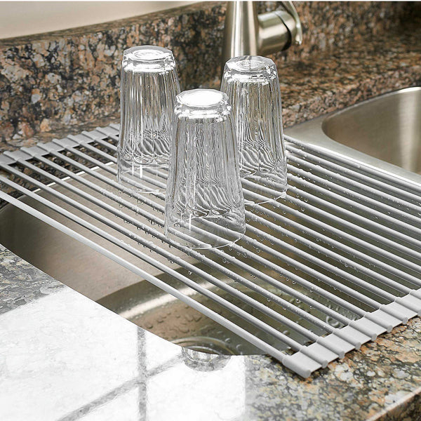 Multipurpose Roll-Up Dish Drying Rack