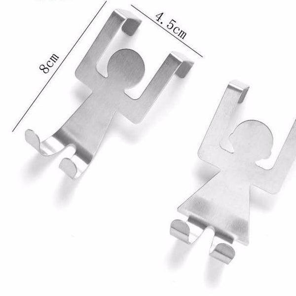 Stainless Steel Lovers Shaped Hooks